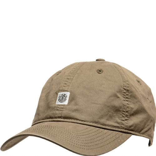 ELEMENT MENS BASEBALL CAP.FLUKY DAD GREEN COTTON UNSTRUCTURED CURVED HAT S20 2
